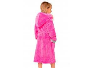 Dívčí soft župan Delfino fuxia s kapucí Envie