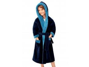 Chlapecký soft dvoubarevný župan Delfino blue Envie