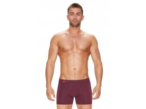 Pánské jednobarevné boxerky s delší nohavičkou Amante 111 Fabio