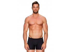 Pánské jednobarevné boxerky s delší nohavičkou Amante push-up Fabio