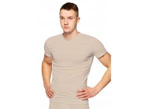 Pánské jednobarevné tričko s krátkým rukávem 218 Fabio