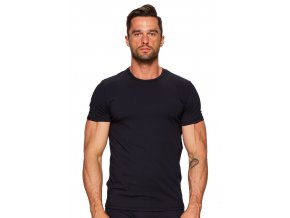 Pánské jednobarevné tričko s krátkým rukávem 01 Fabio