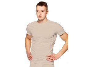 Pánské jednobarevné tričko s krátkým rukávem 015 Fabio