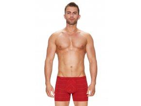 Pánské boxerky s delší nohavičkou a podélným proužkem vzor 74 Fabio