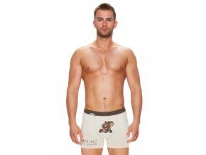 Pánské jednobarevné boxerky s obrázkem veverky Fabio