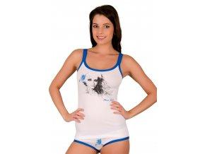 Dámská košilka 52/1-30/D152 s obrázkem dívky s lilií Fabio