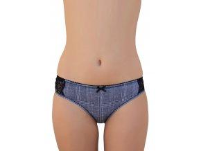 V balení 3 ks -Dámské kostkované krajkové kalhotky 3506 Risveglia