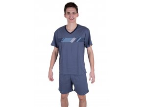 Pánské pyžamo 515 se vzorem barevných pruhů Regina