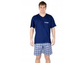 Pánské pyžamo s kraťasy 541 se vzorem kostky Regina