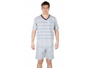 Pánské pyžamo s kraťasy 546 s nápisem Regina