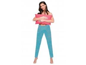 Dámské dlouhé kalhoty vzorované 722 Regina