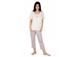 Dámské pyžamo se vzorem kostičky 830 Regina