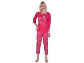 Dámské pyžamo bavlněné s dlouhým rukávem 906 Regina