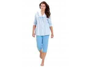 Dámské pyžamo Irena s krajkou a capri kalhotami M-Max