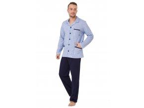 Pánské pyžamo Ambrozy se vzorem melíru M-Max