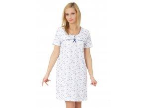 Dámská noční košile Inez s krátkým rukávem se vzorem květů M-Max