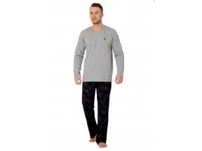 Pánské pyžamo Dawid s nápisem Fly high M-Max