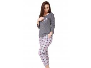 Dámské pyžamo Beatrycze se vzorem kostky M-Max
