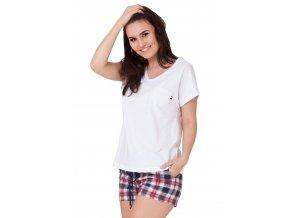 Dámské pyžamo Emma s kraťasy se vzorem kostky M-Max