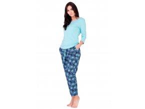 Dámské pyžamo Alina se vzorem květů M-Max
