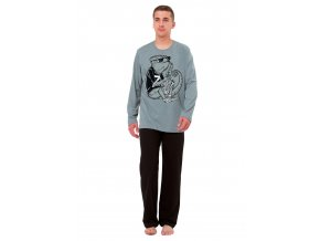 Pánské pyžamo Kameleon s obrázkem chameleona M-Max
