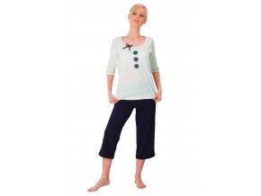 Dámské pyžamo Hania s capri kalhotami M-Max