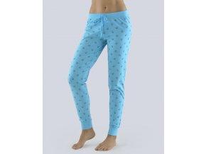Kalhoty dlouhé pyžamové dámské, bokové 19083P