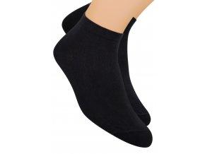 Chlapecké kotníkové ponožky sportovní jednobarevné 054 STEVEN