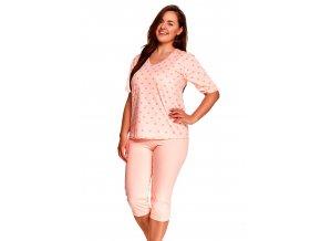 Dámské vzorované pyžamo nadměrné velikosti Lidia Taro