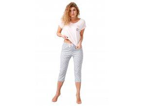 Dámské pyžamo Neska s capri kalhotami M-Max