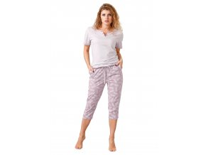 Dámské pyžamo Benita s capri kalhotami M-Max