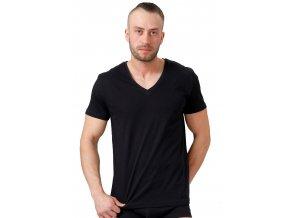 Pánské jednobarevné tričko s krátkým rukávem HOTBERG