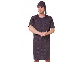 Pánská noční košile Hieronim s jemným vzorem kostičky HOTBERG