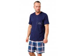 Pánské pyžamo Ikar se vzorem barevné kostky HOTBERG