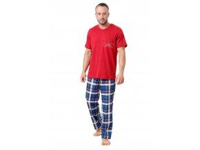 Pánské pyžamo Ikar se vzorem barevné kostky M-Max
