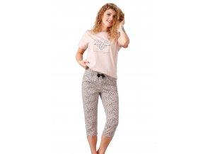 Dámské pyžamo Harley s capri kalhotami M-Max