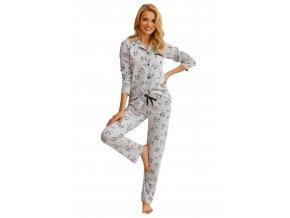 Dámské propínací vzorované pyžamo Celine Taro