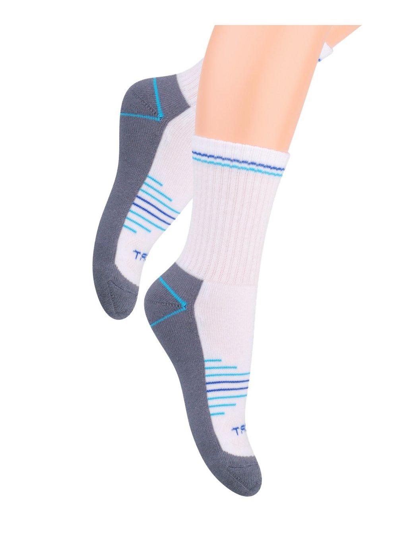 Chlapčenské klasické ponožky polofrofé s nápisom Sport 020/24 STEVEN