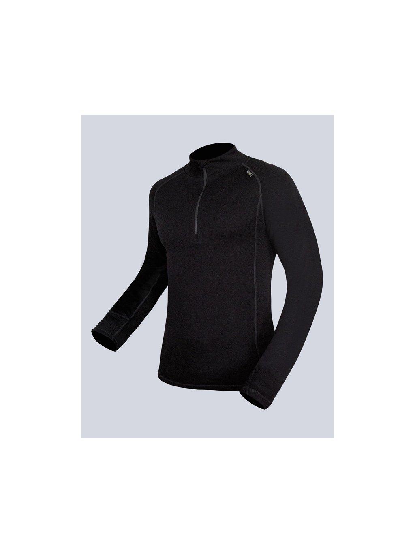 Tričko so zipsom s dlhým rukávom pánske 88016P