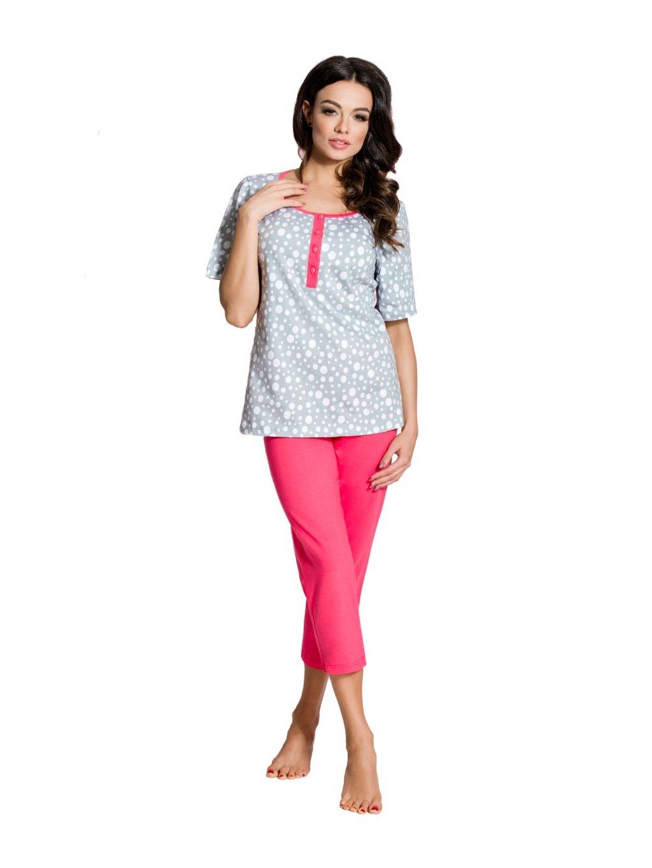 Dámske pyžamo so vzorom bodiek 824 Regina