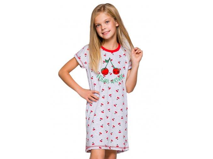 Dievčenská nočná košeľa Pepa s nápisom a obrázkom ovocia Taro