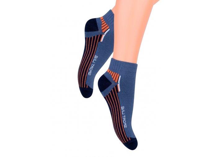 Chlapčenské členkové ponožky s nápisom Sport line 004/74 Steven