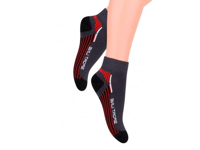 Chlapčenské členkové ponožky s nápisom Sport line 004/75 Steven