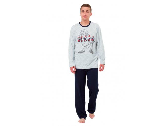 Pánske pyžamo kajka s obrázkom trpaslíka M-Max