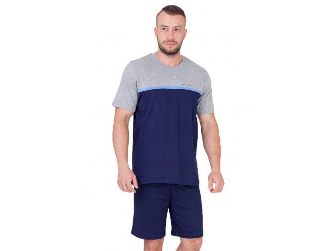 Pánske pyžamo Kasjan s kraťasy s nápisom extreme life style M-Max