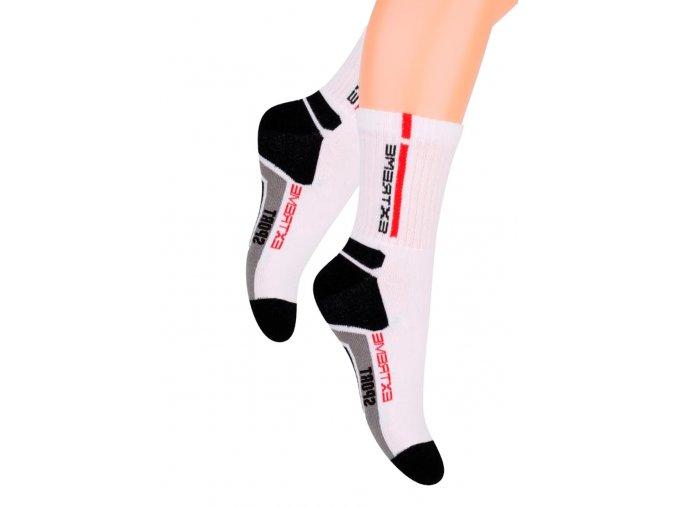 Chlapčenské klasické ponožky s nápisom Extreme šport 014/14 Steven
