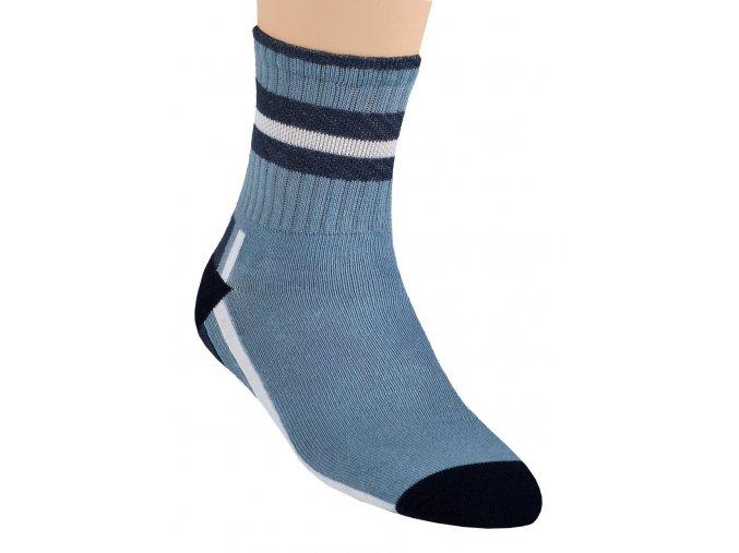 Chlapčenské klasické ponožky so vzorom pruhu 014/901 Steven