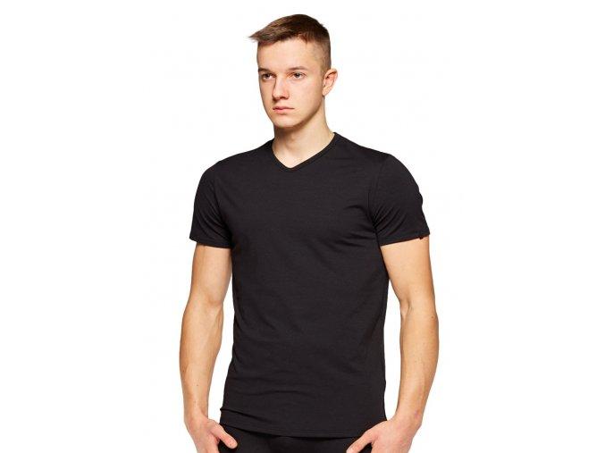 Pánske jednofarebné tričko s krátkym rukávom 001 Fabio