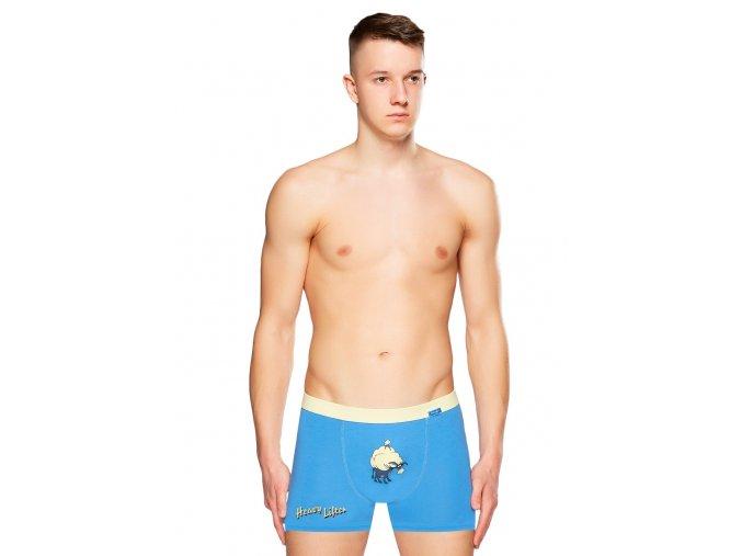 Pánske jednofarebné boxerky s obrázkom oslíka Fabio