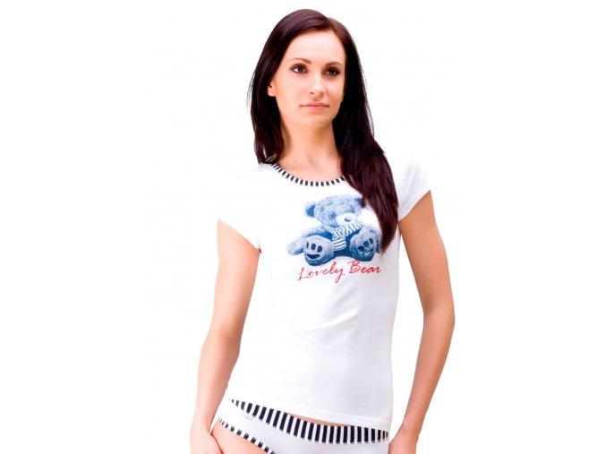 Dámske tričko 52 / 1-86 / D141 s obrázkom medveďa Fabio